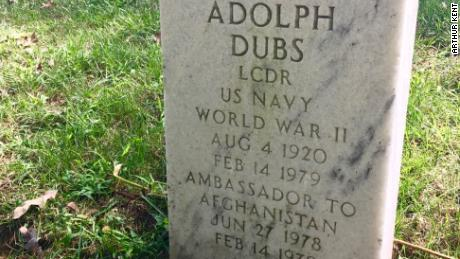 "Adolph ""Spike"" Dubs' headstone at Arlington National Cemetery."