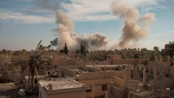 Coalition jets hit ISIS positions in Susa, Syria, in January.