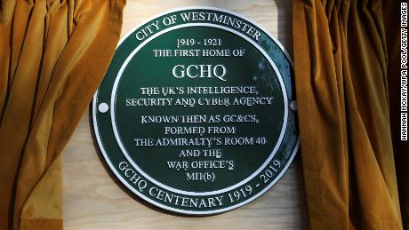 The centenary plaque at Watergate House contains a coded message.