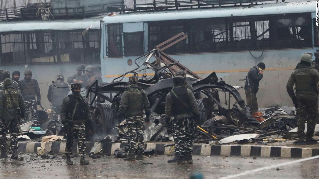 e3d52e84ec Kashmir attack on Indian paramilitary members kills 37 - CNN