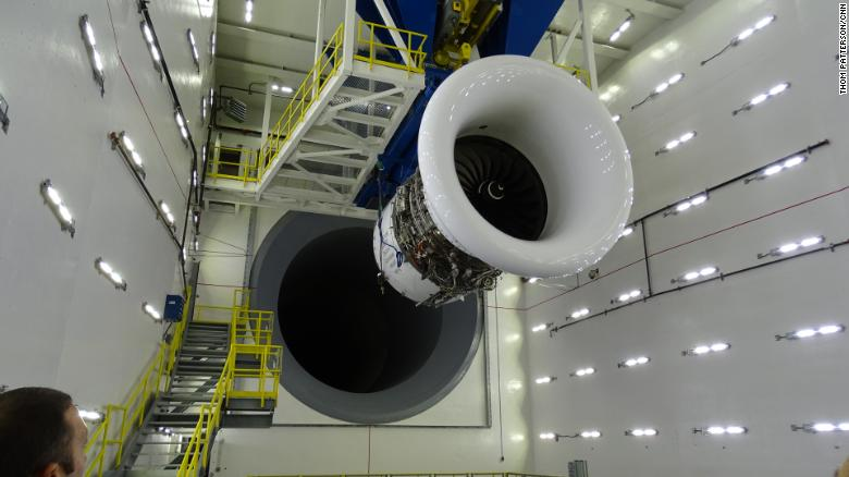 Temple of thrust: Delta debuts world's largest jet engine test room