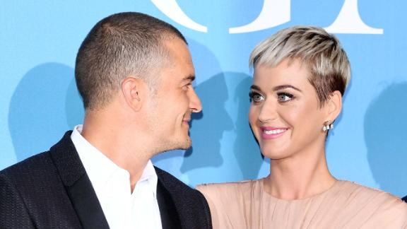 Orlando Bloom and Katy Perry attend a gala in September in Monte Carlo.