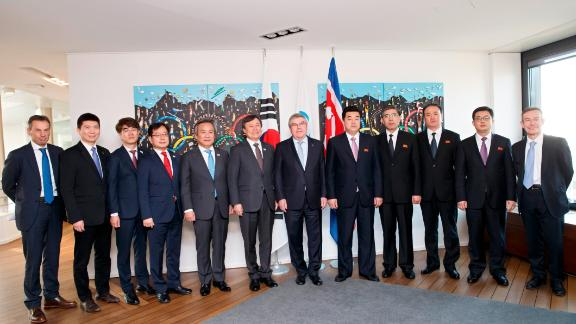 Discussions on the prospect of North and South Korea co-host the 2032 Summer Olympics were held in Switzerland Friday.
