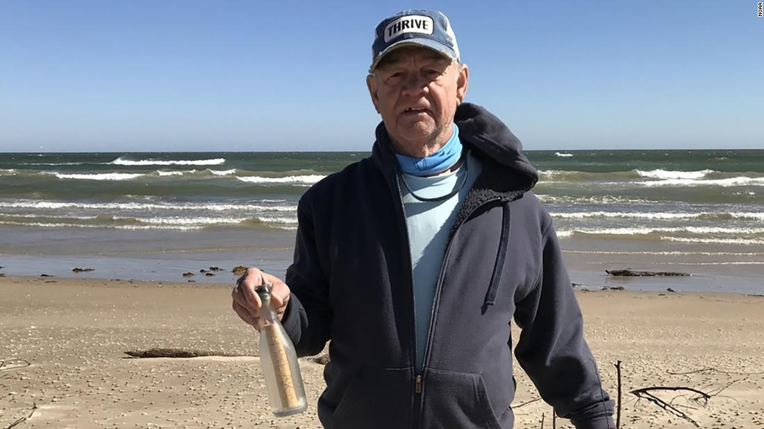 Couple finds message in a bottle that NOAA scientists sent in the early '60s