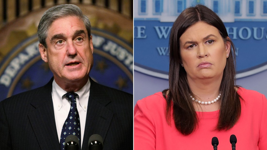 Robert Mueller and Sarah Sanders. CREDIT: Alex Wong/Getty Images and Chip Somodevilla/Getty Images