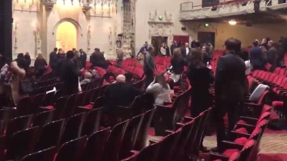 "Patrons at a San Francisco theater ""self-evacuated,"" police say."