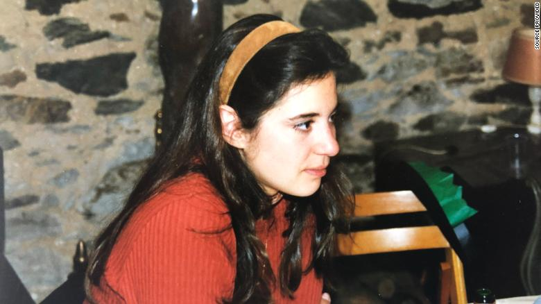 Lucie, pictured in 1994, says she was abused by a priest with the St. John community in Switzerland.