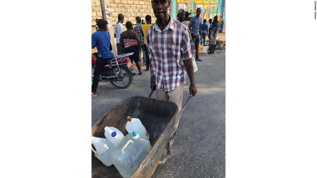 Haiti protesters take the day to gather food and water as they prepare for more possible conflict