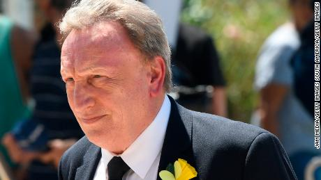 Cardiff City Manager Neil Warnock was in attendance at the funeral.