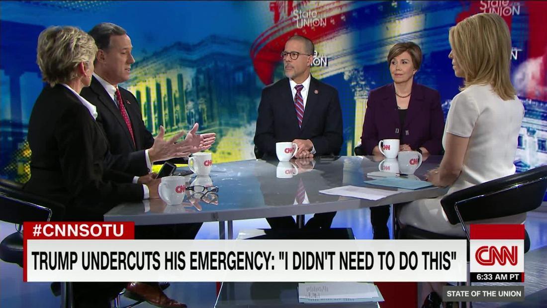 Santorum: I would vote no on Trump's emergency