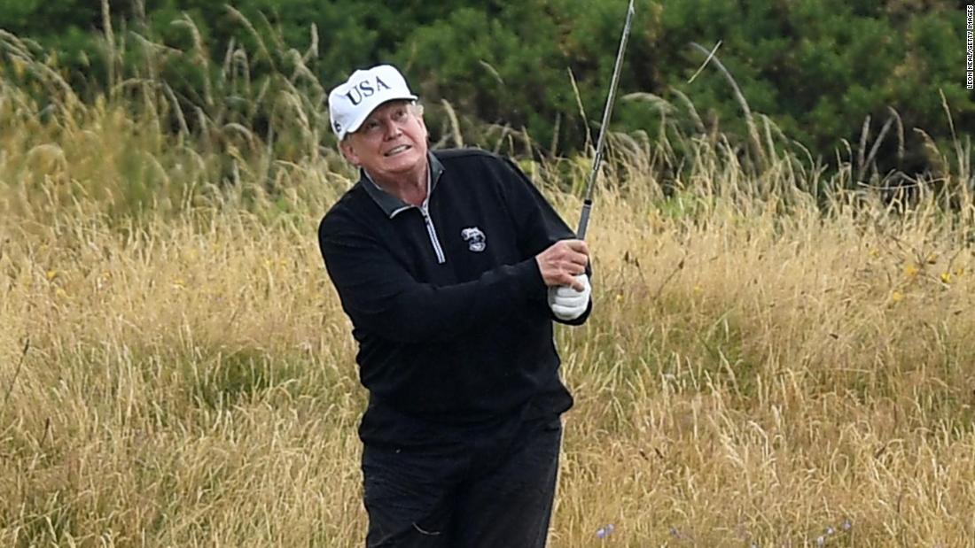 Die Kritiker nehmen eine Schaukel an Trump ' s golf-Spiel