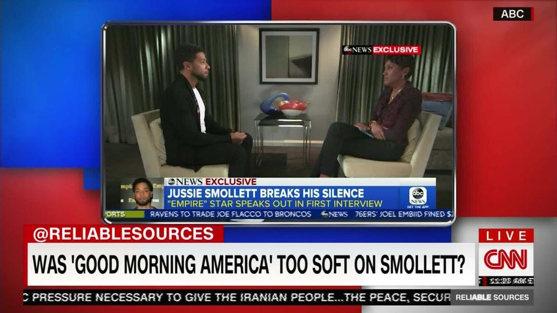 Was 'GMA' too soft in Jussie Smollett interview?