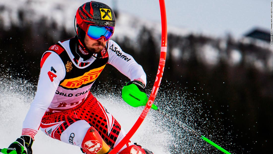 Marcel Hirscher claims third slalom World Championship title