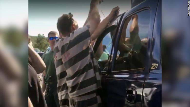Inmates help rescue baby locked in SUV