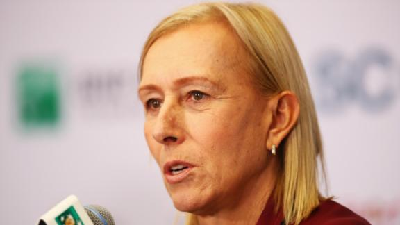 SINGAPORE, SINGAPORE - OCTOBER 29:  WTA Legend Ambassador Martina Navratilova of the United States attends a press conference during day 7 of the BNP Paribas WTA Finals Singapore at Singapore Sports Hub on October 29, 2016 in Singapore.  (Photo by Clive Brunskill/Getty Images)
