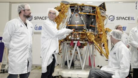 "The spacecraft, called ""Beresheet,"" weighs 1,300 pounds and stands approximately five feet tall."