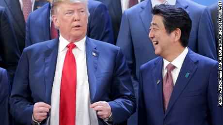 Japan's Abe refuses to deny that he appointed Trump to the Nobel Peace Prize