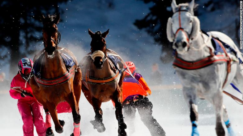 10d8fb6f5b0a White Turf  Horse racing with a touch of frost - CNN