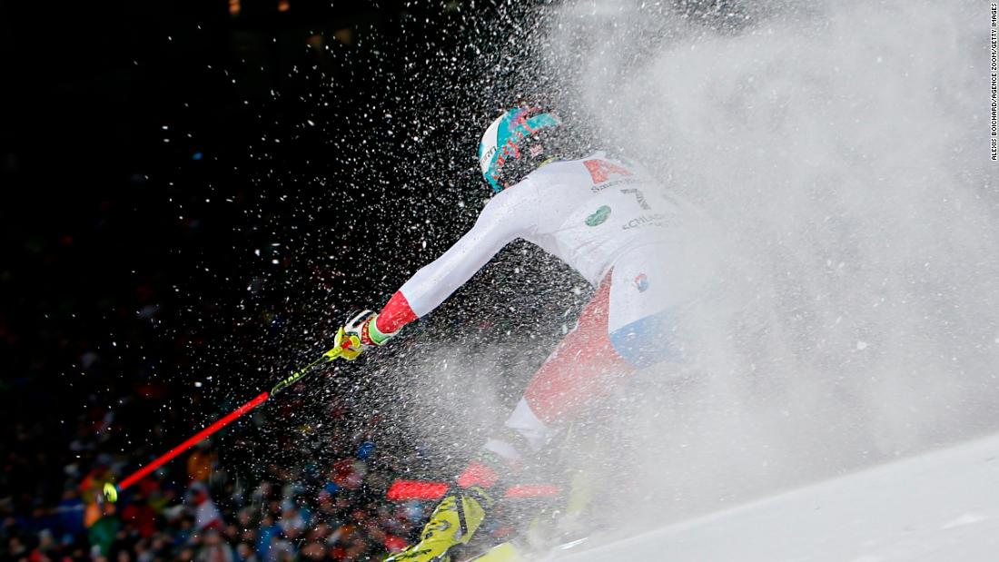 Switzerland's Daniel Yule competes in Schladming