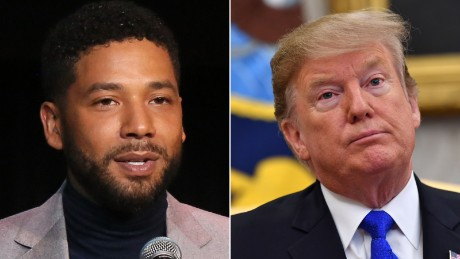Trump says the FBI and the DOJ will review the Jussie Smollett case