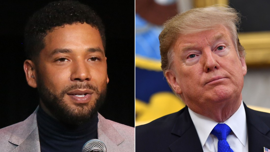 Jussie Smollette and President Donal Trump