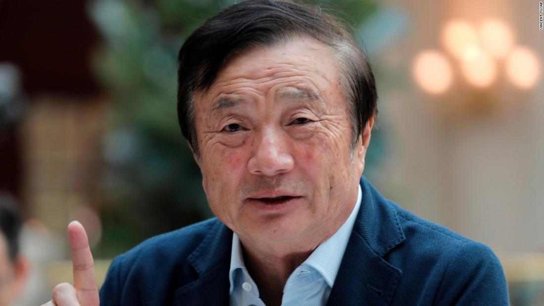 Huawei founder Ren Zhengfei: The US 'cannot crush us'