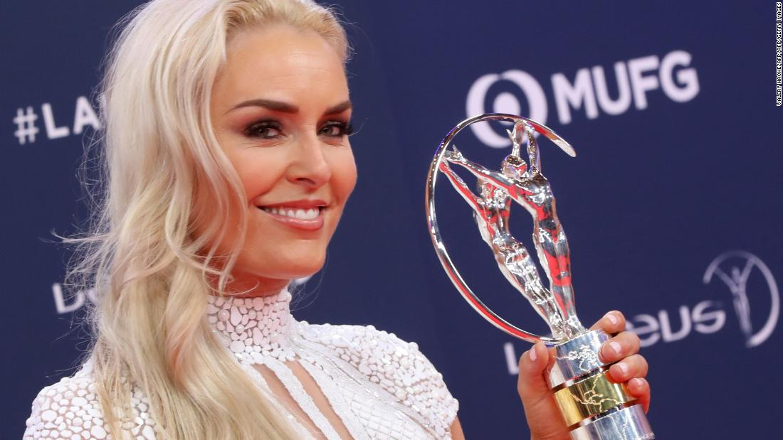 Lindsey Vonn wins Spirit of Sport award at the 'Oscars of Sport'