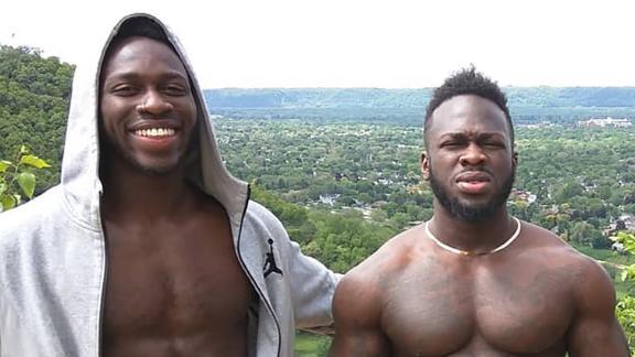 Brothers Abimbola Osundairo, left, and Olabinjo Osundairo.