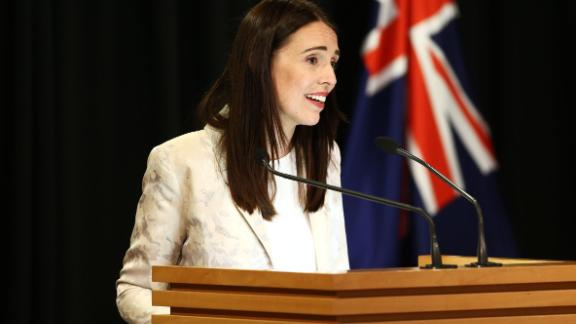 Prime Minister Jacinda Ardern speaks to media during a post cabinet press conference at Parliament on January 29, 2019 in Wellington, New Zealand.