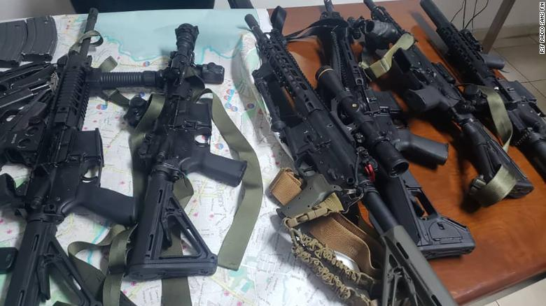 The detainees' alleged weapons cache.