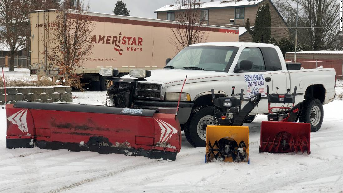 Teen makes $35,000 in four days plowing snow