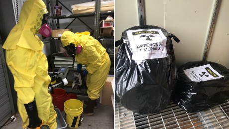 Buckets of uranium ore were found at the Grand Canyon museum. After park service employees got rid of the ore, OSHA inspectors found the empty buckets back at the facility, the park's safety manager says.