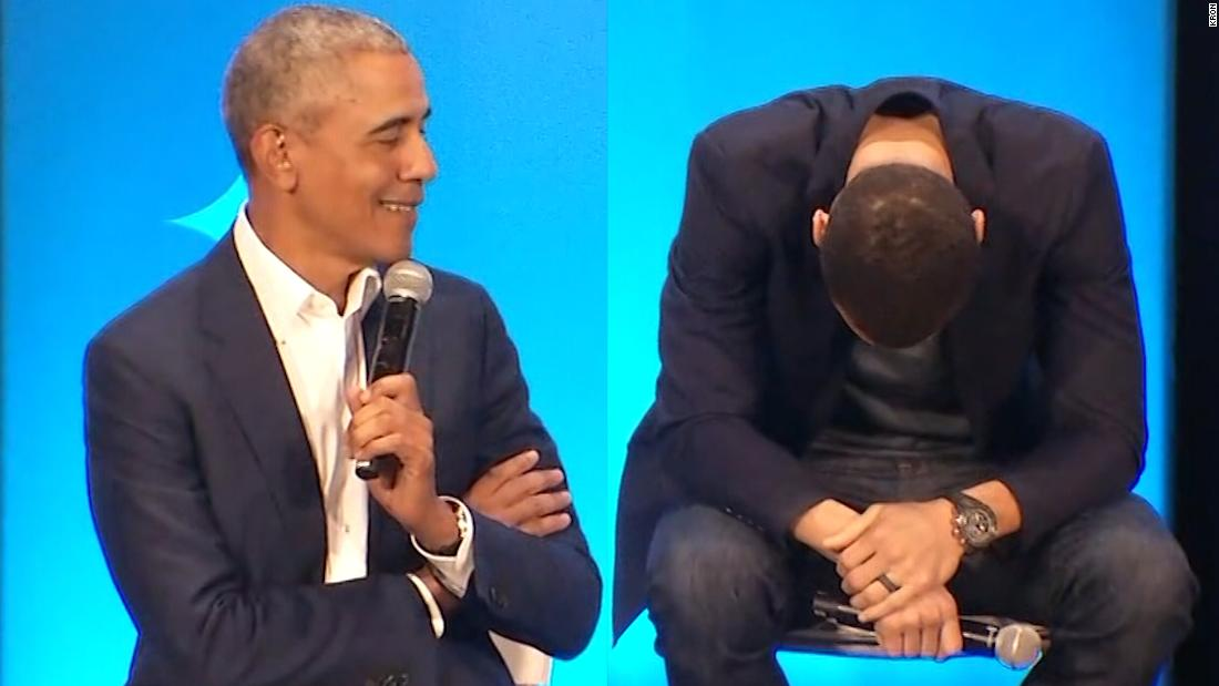 Δείτε Stephen Curry αντίδραση του Ομπάμα diss