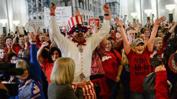Teachers celebrated after lawmakers postponed voting on SB 451. But they