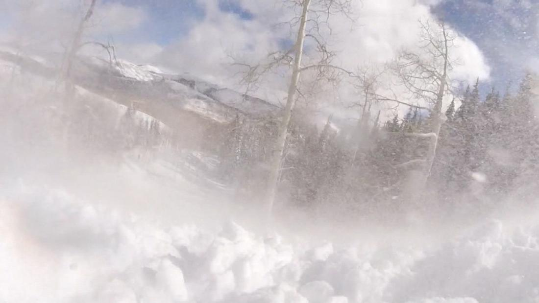 Skier's avalanche encounter caught on camera