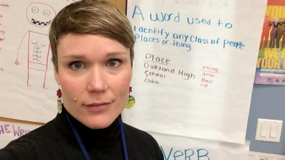 Oakland teacher Alex Webster Guiney will be dipping into her savings to go on strike.