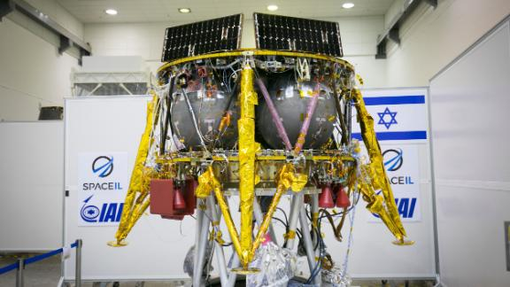 SpaceIL's Beresheet spacecraft is five feet tall and weighs about 1,300 pounds fully fueled.
