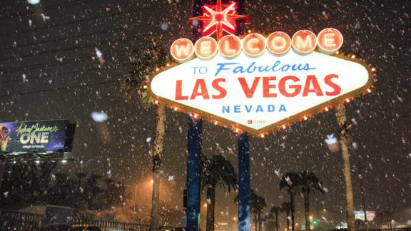 The hottest show in Las Vegas right now is the snow