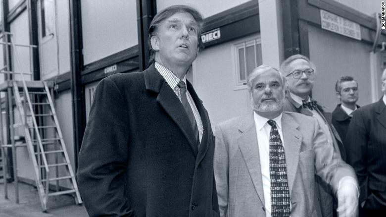 Trump (left) is accompanied in Moscow by the real estate mogul Bennett LeBow (second from left).