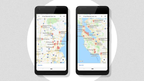 Google Maps will show users where to discard medications.