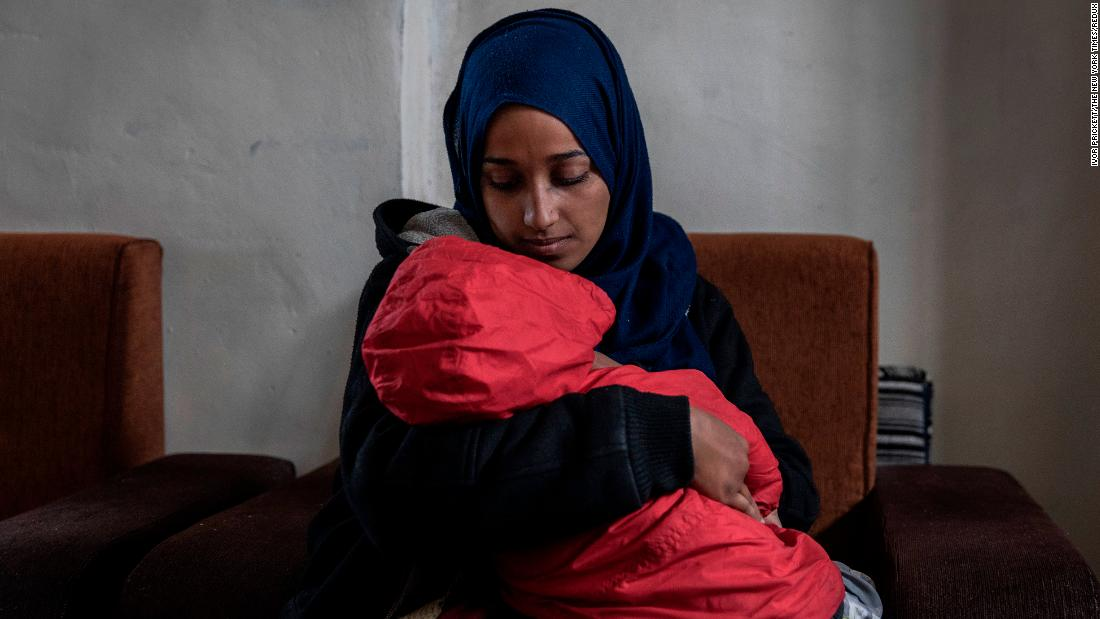 "Hoda Muthana, a woman who left the United States four years ago to join ISIS, holds her son at a detention camp in Al-Hawl, Syria, on Sunday, February 17. US President Donald Trump said he directed Secretary of State Mike Pompeo <a href=""https://www.cnn.com/2019/02/20/politics/hoda-muthana-state-department/index.html"" target=""_blank"">not to allow Muthana to return to the United States</a> despite her recent public plea to come back and stand trial in America. Hours earlier, Pompeo declared that Muthana is not an American citizen. Hassan Shibly, a family representative for Muthana, said Muthana is a citizen who was born in New Jersey in 1994."