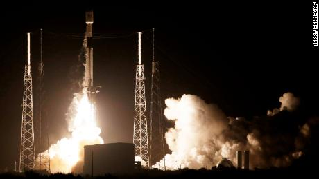 A SpaceX Falcon 9 rocket lifts off with Israel's Lunar Lander and an Indonesian communications satellite.