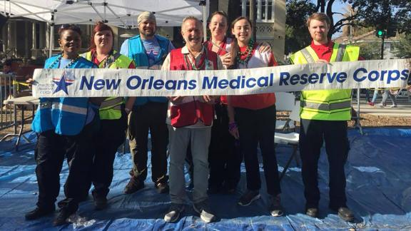 New Orleans Emergency Medical Services at Mardi Gras 2018.