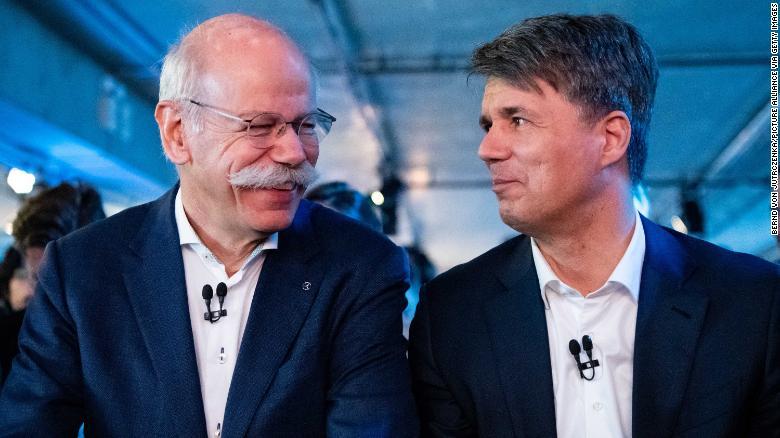 Daimler boss Dieter Zetsche meets BMW chairman Harald Krüger in Berlin.