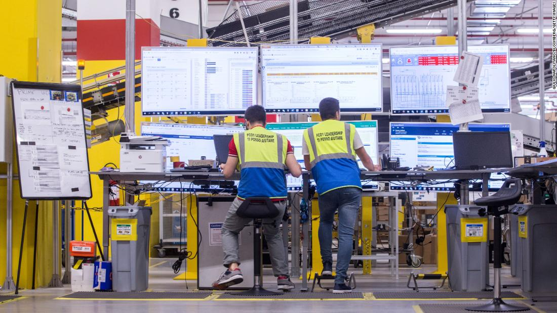 The data coming through Amazon's network of fulfillment centers helps its economists forecast how much inventory they'll need, how to route it, and how to make workers more efficient.