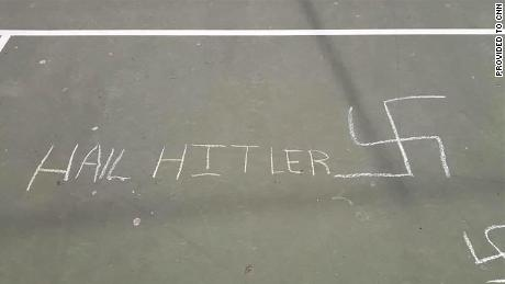 Anti-Semitic symbols and words were found drawn in chalk on an elementary school yard in New York City. A councilman tweeted the photos last week.