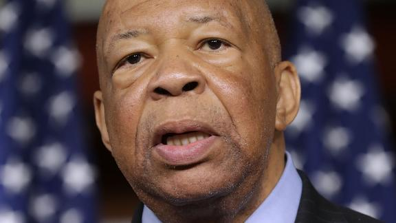 House Oversight and Government Reform Committee ranking member Rep. Elijah Cummings (D-MD) speaks during a news conference at the U.S. Capitol May 17, 2017 in Washington, DC.