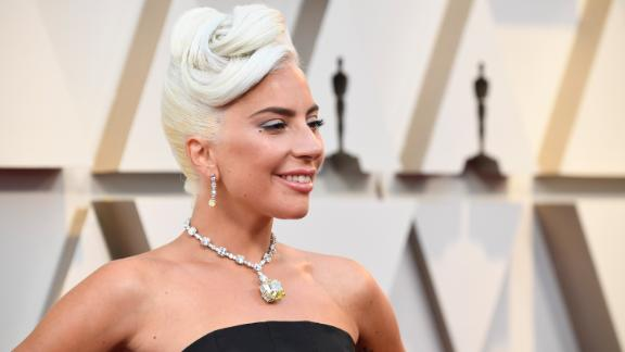 Lady Gaga attending the Academy Awards in late February.