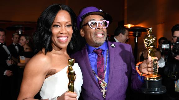 Regina King and Spike Lee