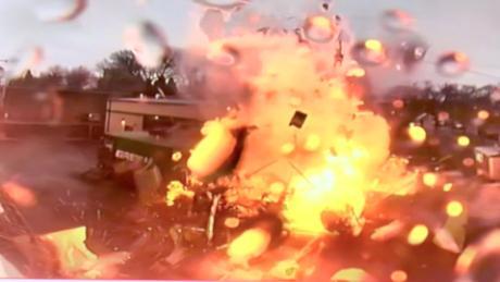 Massive food truck explosion caught on camera